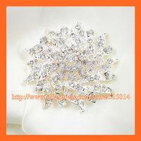 Free Shipping!100pcs/lot 60mm Wedding Crystal PIN,Rhinestone Brooch,Bonquet PIN,Bridal Rhinestone Brooch ,Chair Sash Pin.
