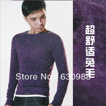 Free shipping high-grade Knitted Sweater England Neck Slim Rabbit hair