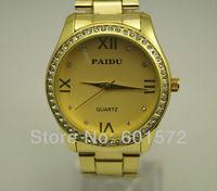 freeshipping hot sale 30pcs/lot fashion design metal paidu stone watch for men/women,with PC21 quartz movement from Japan