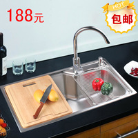 Free shipping Stainless steel sink big monocolpate sink pool vegetables basin lavendered pelton sinks