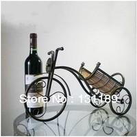 European creative fashion wrought iron wine rack wine rack wine rack bike rack retro furnishings Wine
