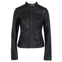 2013 autumn new arrival fashion high quality PU slim leather jacket women S,M,L,XL,2XL,3XL Free shipping