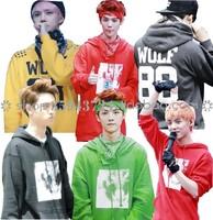 Exo xoxo kiss hug wolf 88 long-sleeve sweatshirt hoodie sweatshirt