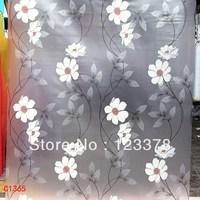 White flower vine scrub window bathroom glass film sliding door glass stickers sunscreen window stickers free shipping