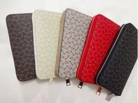 Free shipping! 5 Style fashion Women/men LEATHER black/red/khaki/coffe/white pattern classical Unisex hand  Purse/wallet