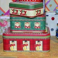 Set square tin biscuit storage box candy box sundries box christmas gift