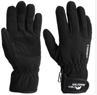 Double mountain trip windproof gloves fleece gloves outdoor thermal gloves mg-48