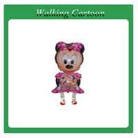 100pcs/lot, free shipping! walking cartoon balloon, children's toys, baby's gift!