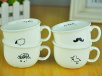 Zakka istikan ocean series brief glass cute ceramic cup