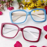 Scrub multicolour glasses non-mainstream oversized eyeglasses frame vintage leopard print thick-framed eye box