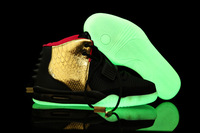 Free shipping New Arrival Famous Trainers Air Yeezy 2 Kanye West Men's Shoes basketball shoes, Trend shoes black gold
