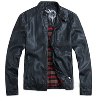 New Men's Clothes Short Jacket PU Leather Coat Motorcycle Jacket Outwear
