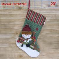 "20"" Christmas Stocking Santa Socks Xmas Decoration Gift Stockings 20 inch big size FREESHIPPING"