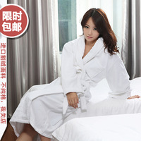 Cotton 100% cotton plus size thickening lovers toweled bathoses bathrobes bath towel robe