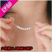 Accessories exquisite brief elegant sparkling diamond short design necklace chain necklace