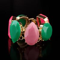 Min $20  fashion accessories multicolour big gem exaggerated bracelet
