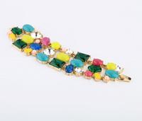 Min $20  fashion accessories multicolour crystal bracelet