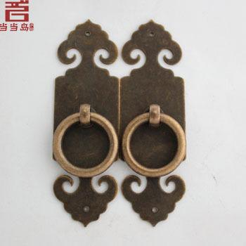 Chinese furniture antique bronze copper door locks straight handle DG-049 10CM