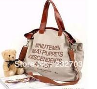 Hot sell 2013 letter Casual Canvas Bag Women's Messenger Bags Handbag Tote Shoulder bag Free shipping