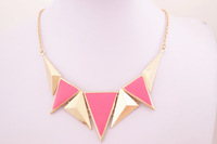 Fashion  geometry  triangle short necklace