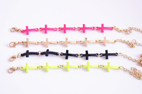 Fashion  neon color cross bracelet for girl and boys