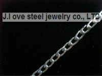 5 / PS silver stainless steel 50 cn jewelry Italy fine polished stainless steel 1.8mm thick bull-puncher figaro chain necklace