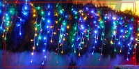 3.5M Long 96 Bulbs Icicle Light Christmas LED Curtain Lights , For Holiday Bedroom Home, Romantic gift, 10pcs/Lot Free shipping