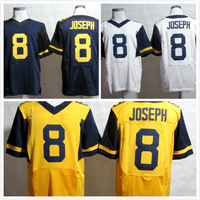 2013 new football jersey West Virginia Mountaineers #8 Karl Joseph golden/ blue/ white college football jerseys free shipping
