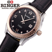 Binger accusative case watch male watch mens watch fully-automatic mechanical watch strap gold black
