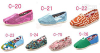 Wholesale-new fashion kids flat canvas shoes slip-on shiny glitter studded, colorful children casual lazy loafers25-35