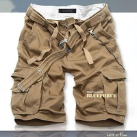 2013 new fashionable casual loose shorts men's trousers multi-pocket overalls  High Quality Cargo Shorts Beckham