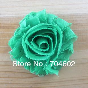 Wholesale 50pcs/lot 2.5'' frayed chiffon flower Vintage Chiffon Shabby fabric flowers hair accessory free shipping th18