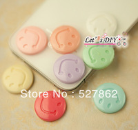 factory direct sell,40pcs/lot,resin smile face,mixd colors ,phone case DIY accessory decoration material,Free Shipping