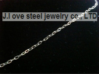 5 / PS silver stainless steel 50 cn jewelry Italy fine polished stainless steel 2.0mm thick bull-puncher figaro chain necklace