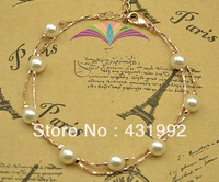 Elegant fashion classic original birthday present multi-layer pearl bracelet female