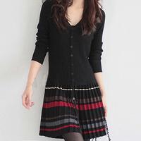 Heng YUAN XIANG women's medium-long sweater cardigan autumn and winter long-sleeve dress
