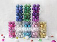 Free shipping Christmas ball christmas tree decoration ball christmas ball light christmas tree ball 6cm 25 bucket