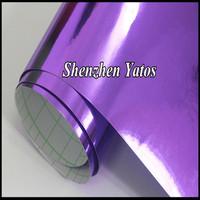 Chrome Purple Decals Chrom Mirror Vinyl Sheet Car Wrapping / Size:1.52 x 30m