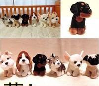 Puppy dog plush toy doll simulation 1 Set/6 PCS . Huskies,Schnauzer ,Chihuahua, Basset Hound,Rottweiler, pug,19cm  birthday gift