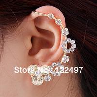 Free shipping 2pcs/lot left earring Fashion Charms Punk Crystal Resinstone Earrings Hook Clip Earrings for women