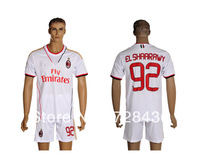 Free shipping  13 14 ac milan away soccer jerseys+shorts EL SHAARAWY 92# football uniform