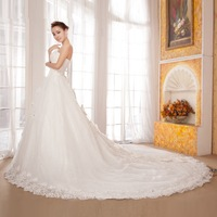 2013 luxury royal train wedding dress sweet princess vintage wedding dress long trailing