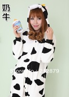 Animal Cartoon cow Pajamas,Cosplay Costume,Halloween Party Costume,Christmas Gift,Unisex,Lover set,Match Outfit, Free Shipping
