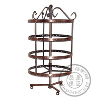Free Shipping Rotatable 144 holes Metal Earrings Jewelry Display Stand Holder Show Rack Hanger
