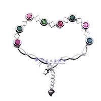 Tourmaline bracelet natural Women fashion multicolour tourmaline bracelet 9850