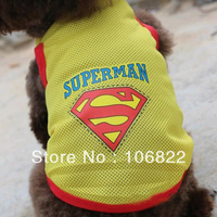 dogs pets clothing and clothesDog Pet Mesh Breathe Vest Doggy Summer Clothes Top Apparel Shirt Costume New LX0113 Free shipping&