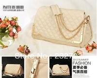 Free Shipping 2013 New fashion Women's Quilted shoulder bag leisure bag handbag chain bag tote message bag