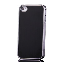 Black Strong Metal Style Hard Protect Case Cover For Apple Iphone 4 4S