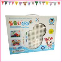 245 Pcs Mushroom Peg Board Puzzle Educational Toys for Kids free shipping