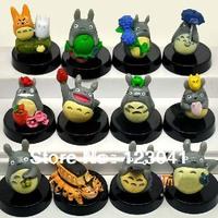 High quality 12 pieces/set Japan anime Totoro PVC figure toys